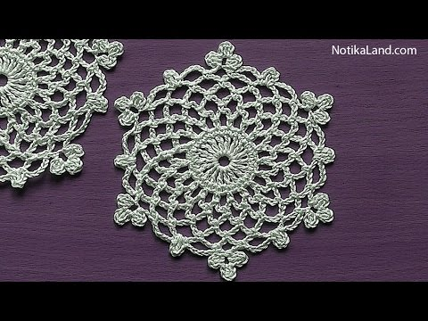 How To Crochet Snowflake Pattern Ornament Easy Tutorial Youtube