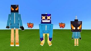 Whitty Vs. Ballistic Whitty Vs. Mini Whitty In Minecraft   Friday Night Funkin' War