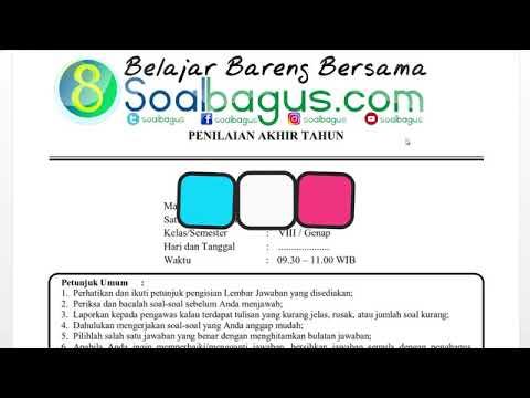 Soal Dan Kunci Jawaban Pat Seni Budaya Smp Mts Kelas 8 Kurikulum 2013 Th Ajar 2019 2020 Youtube