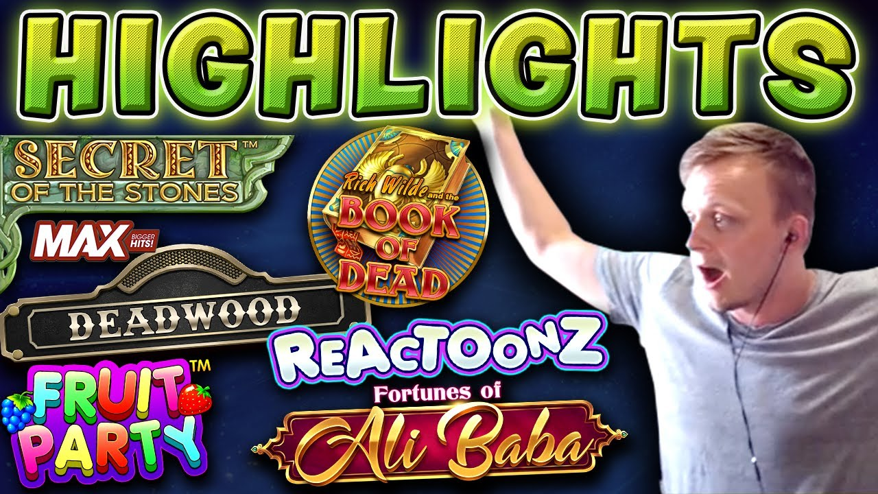 SLOT HIGHLIGHTS - Book of Dead, Deadwood, Reactoonz and more!