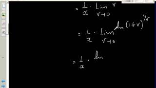 proof of derivative of ln x by first principle