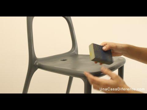 Pintar Sillas De Plástico Efecto Envejecido Youtube