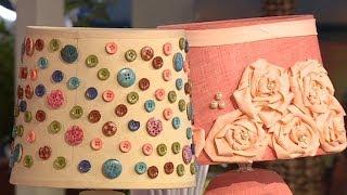видео Как сделать абажур своими руками из ткани
