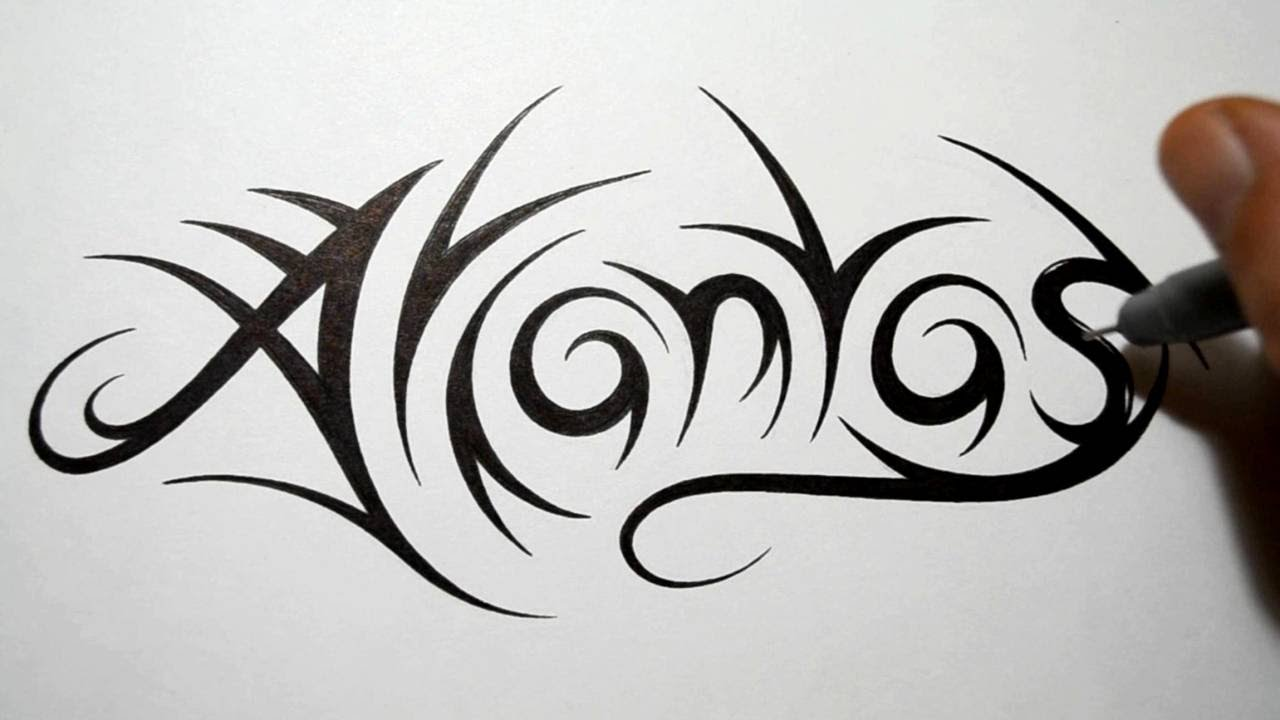 Name Drawings: How To Draw Tribal Names