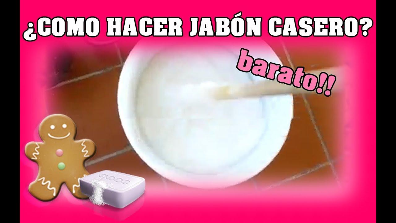 Como hacer jab n casero en 5 minutos youtube - Para hacer jabon en casa ...