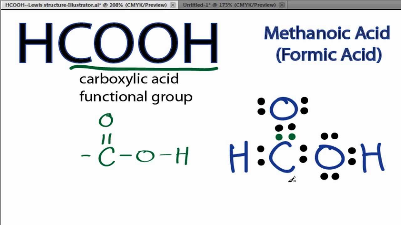 Hcooh Lewis Structure  How To Draw The Lewis Structure For