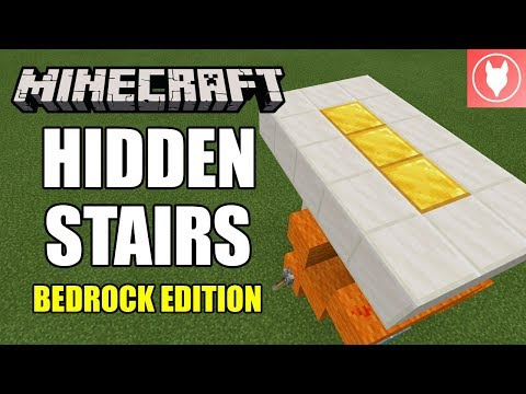 Minecraft Bedrock - Hidden Stairs + Input ( Xbox / MCPE / Windows 10 / Switch )