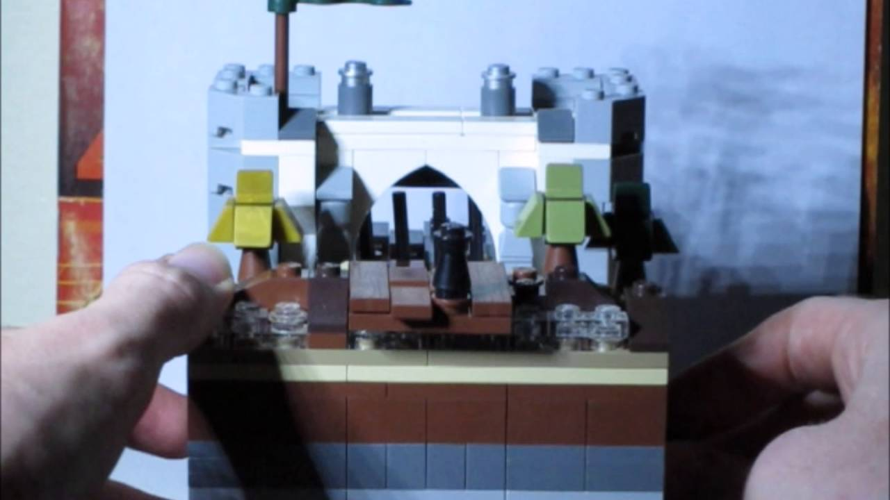Functional Micro Scale Lego Castle Gate Youtube