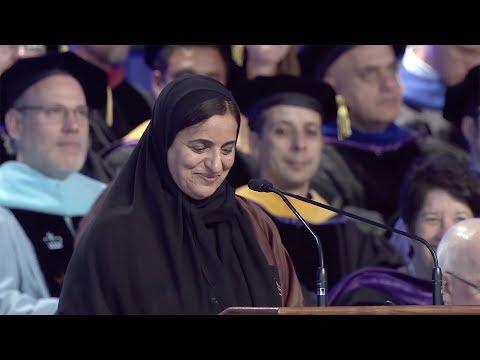 2017 Commencement Keynote Speaker H.E. Sheikha Lubna bint Khalid Al Qasimi