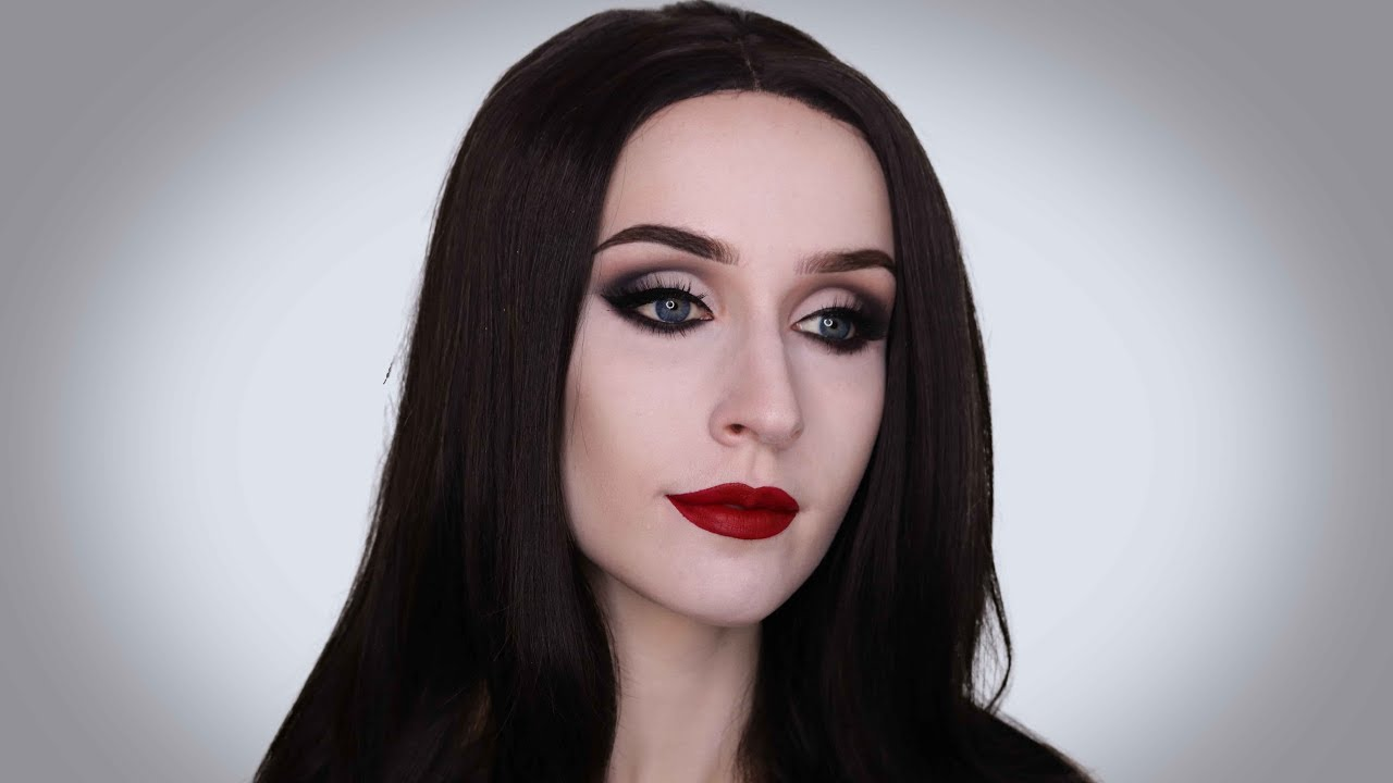 Morticia Addams Super Easy Halloween Makeup Tutorial Youtube