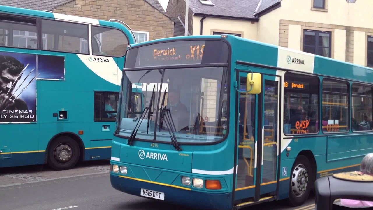 (HD) Buses in Seahouses - Northumberland Arriva 4515 and 7509 - YouTube
