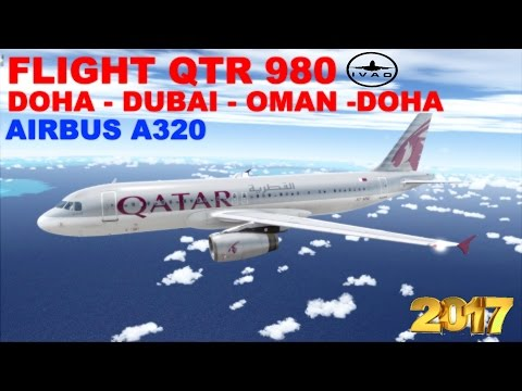 [FSX] LIVE STREAM | FLIGHT FLOG #17 | FLIGHT QTR980 | DOHA -