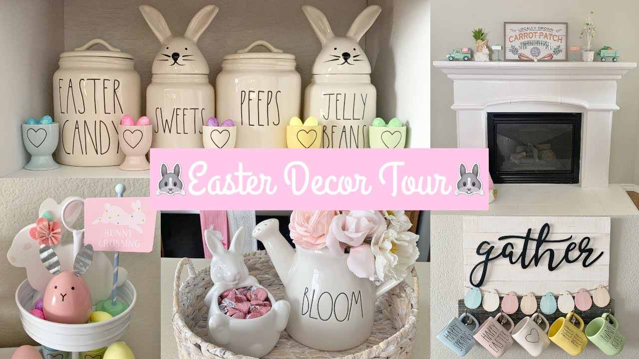 Easter Decor Tour 2020 Rae Dunn Easter Collection Youtube