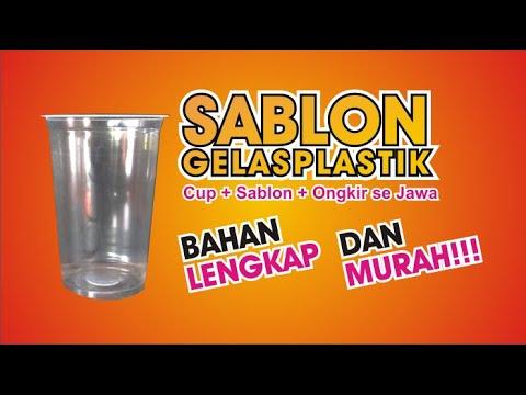 FREE ONGKIR - Jasa Sablon Cup Plastik Murah terdekat Semarang