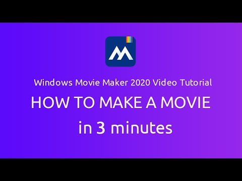 Windows Movie Maker 2020 Video Tutorial -- How to make a movie in 3 minutes