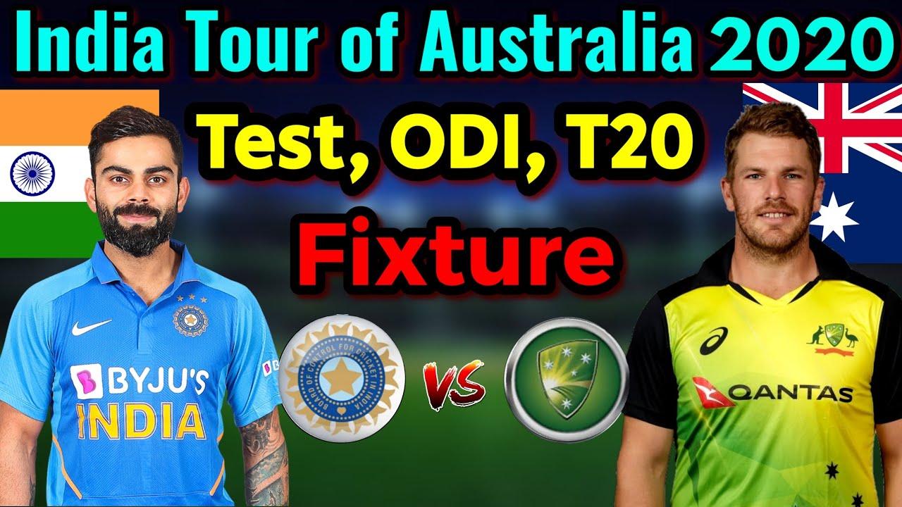 India Tour Of Australia 2020 21 All Matches Schedule India Vs Australia Series 2020 21 Youtube