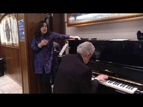 Espontáneo Siboney, Plácido Domingo al piano y la mezzo Nancy Fabiola Herrera