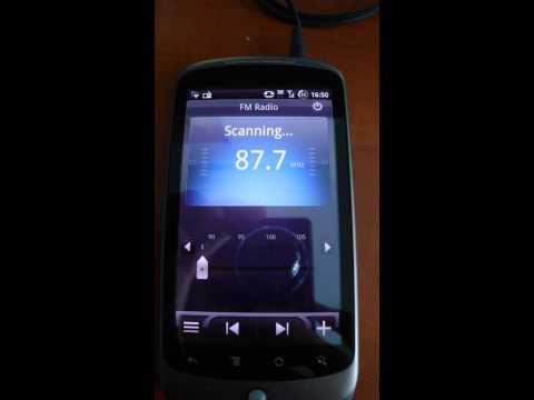 Test De La Radio FM Sur Un HTC Google Nexus One (Android)