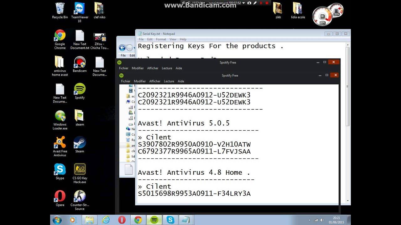 clés d'activation avast free antivirus 2016 gratuit - YouTube