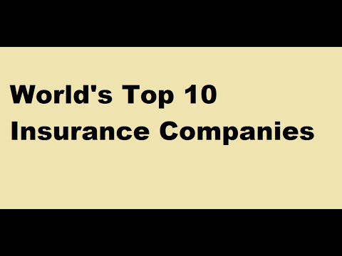 WORLD'S  TOP 10 INSURANCE COMPANIES