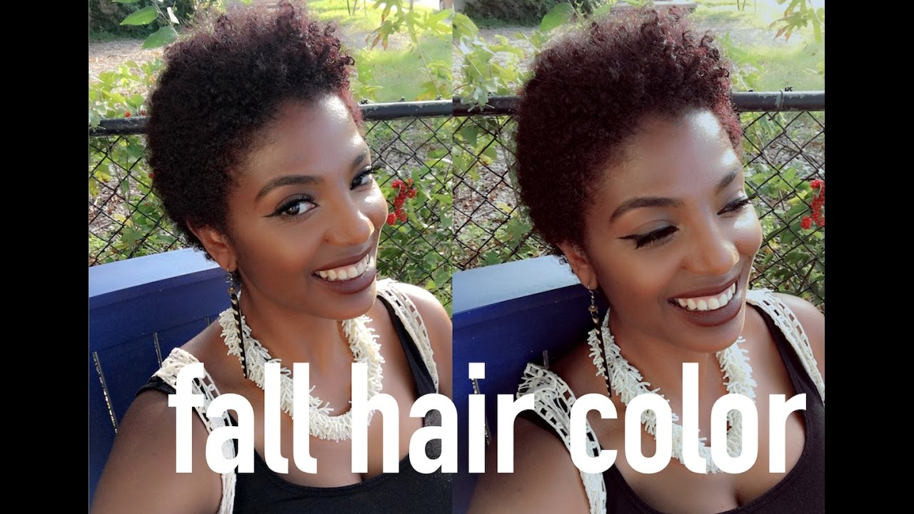 I WENT RED Coloring Short Natural Hair Clairol Textures