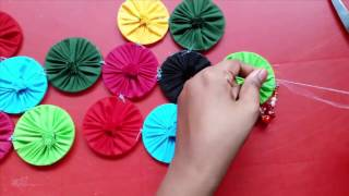 DiY : Wall Hanging Craft Ideas || How to make wall hanging with cloth and bangles