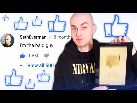 Автор Самого Залайканного Комментария получил награду от Ютуб