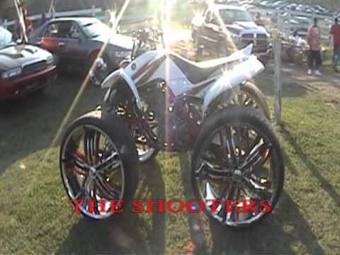 4 WHEELER ON 22 INCH RIMS - YouTube