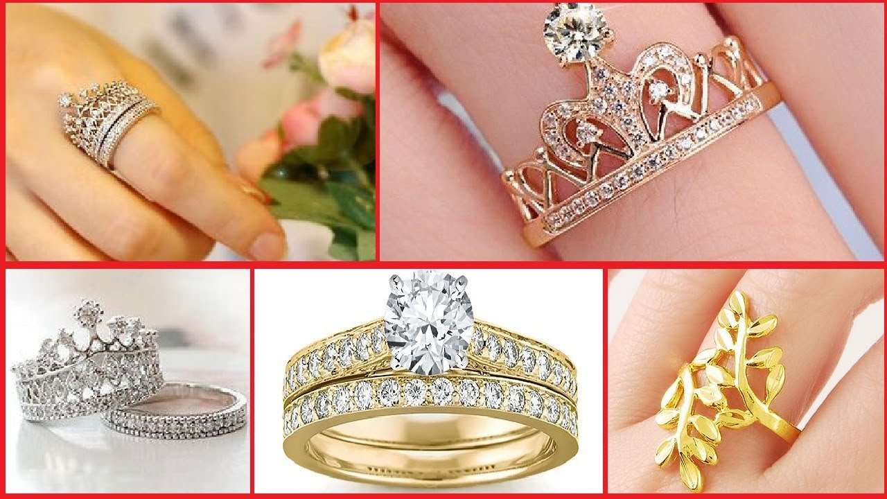 Latest Stylish Gold Ring designs for Girls | Beautiful Gold Ring ...