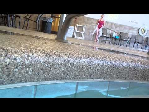 Swimming at the pool at the Hampton Inn Scottsbluff,Nebraska