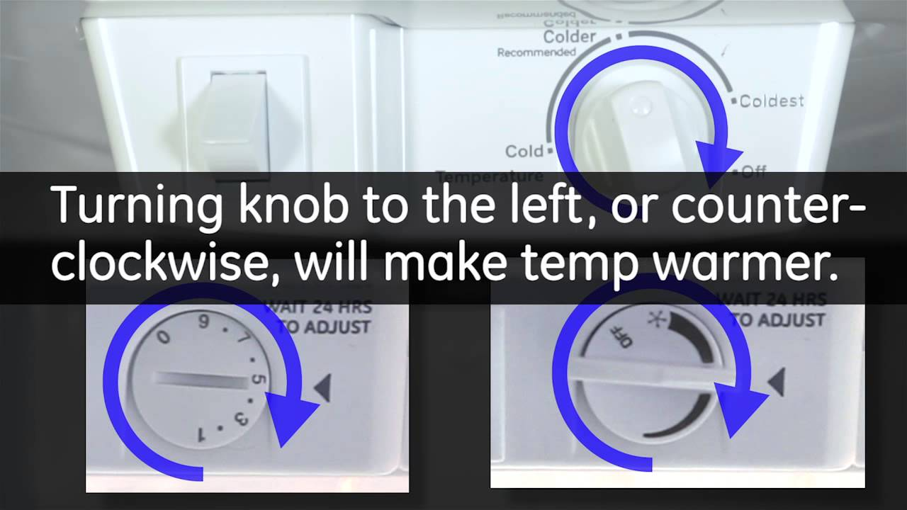 Temperature Controls Top Mount Refrigerators Youtube