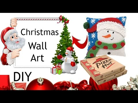 DIY Wall Arts/ Christmas Decoration On Budget/ Holiday Decor Ideas
