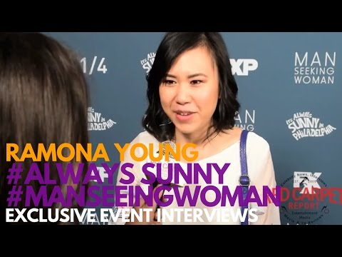Ramona Young at the FXX Premiere for Man Seeking Woman Season 3