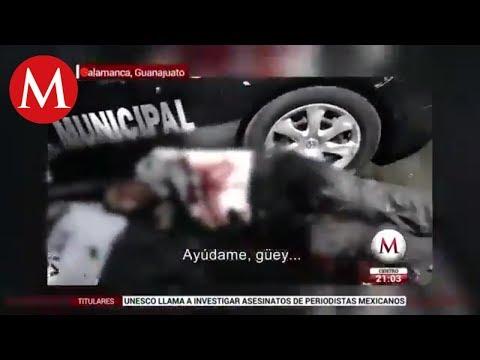 IMÁGENES FUERTES: Ejecutan a policías en Salamanca, Guanajuato