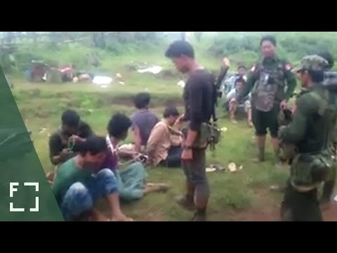Myanmar Army Soldiers Savagely Beat Ethnic Men