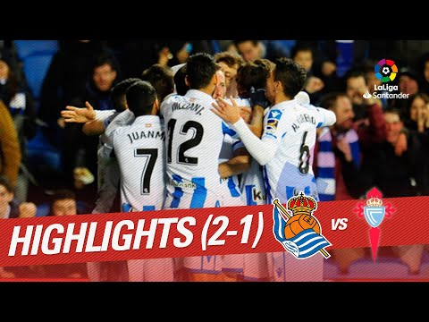 Highlights Real Sociedad vs RC Celta (2-1)