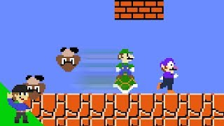Luigi wins by doing absolutely nothing in Super Mario Bros