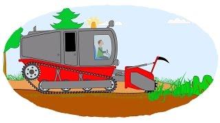 Zeichentrick-Malbuch - Ungewöhnliche Traktoren. Teil 2.