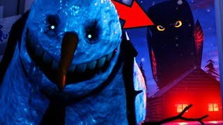 NIGHTMARE SNOWMAN AND CREATURES TRANSFORM!    Frosty Nights - FNAF Style Horror (NIGHTMARE NIGHT)