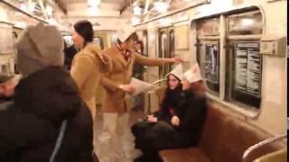 Приколы в метро.Смешное видео.