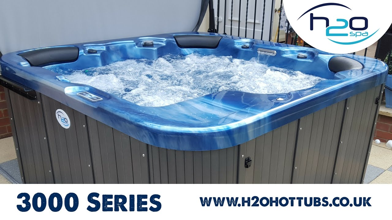3000 Series Hot Tub From H2O Spa - YouTube
