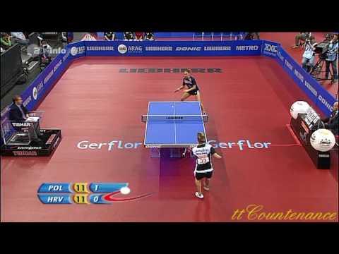 European Championships: Natalia Partyka-Cornelia Vaida