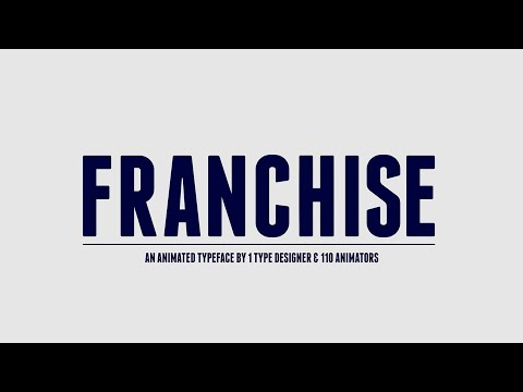 Franchise Animated - A Free Animated Typeface