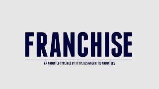Franchise Animated - A Free Animated Typeface