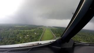 Beautiful scene of flight landing in rain at Cochin International Airport