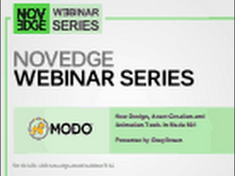 Novedge Webinar #114  New Design, Asset Creation and Animation Tools in Modo 801