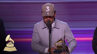Chance The Rapper Wins Best Rap Album | Acceptance Speech | 59th GRAMMYs
