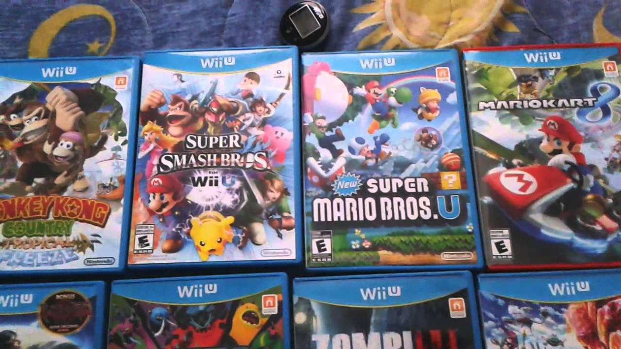 Coleccion De Juegos Para El Wiiu Enero 2015 Youtube