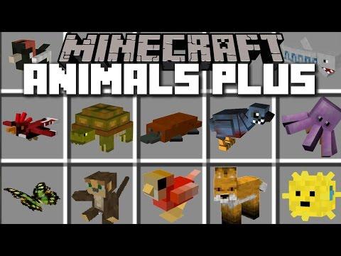 Minecraft ANIMALS PLUS MOD / SPAWN LOADS OF DIFFERENT TYPES OF MOBS!! Minecraft
