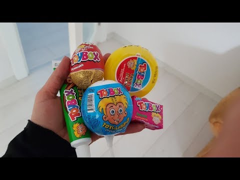 İlkim Naz Toybox Çeşitlerinin Tadına Bakıyor Sürpriz Yumurtalar Toybox Lolipop Krem Çikolata